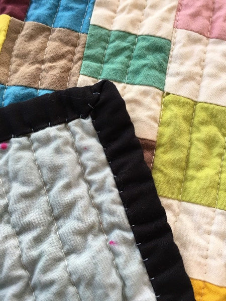 Handmade Quilt, Quilted Wall Hanging, Hand-Dyed Organic Cotton Quilt, Art Quilt