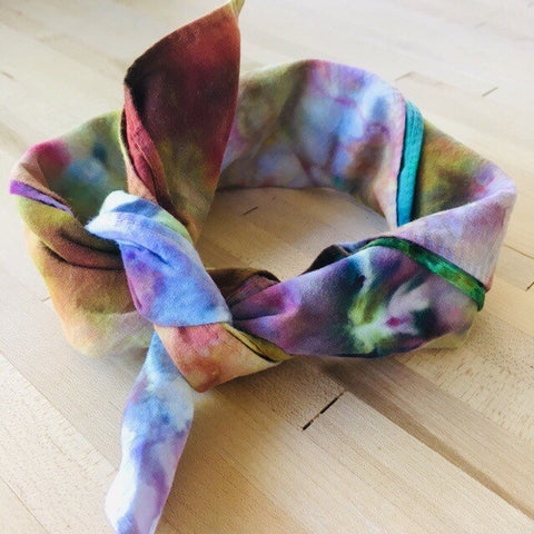 Ice Dyed Hank, EDC Hankerchief, Ice-Dyed Cotton Bandana, Every Day Carry Hank #16