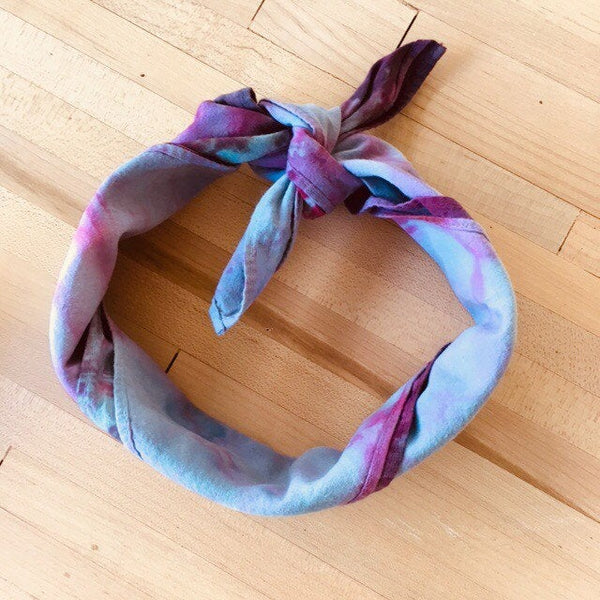 Ice Dyed Hank, EDC Hankerchief, Ice-Dyed Cotton Bandana, Every Day Carry Hank #09