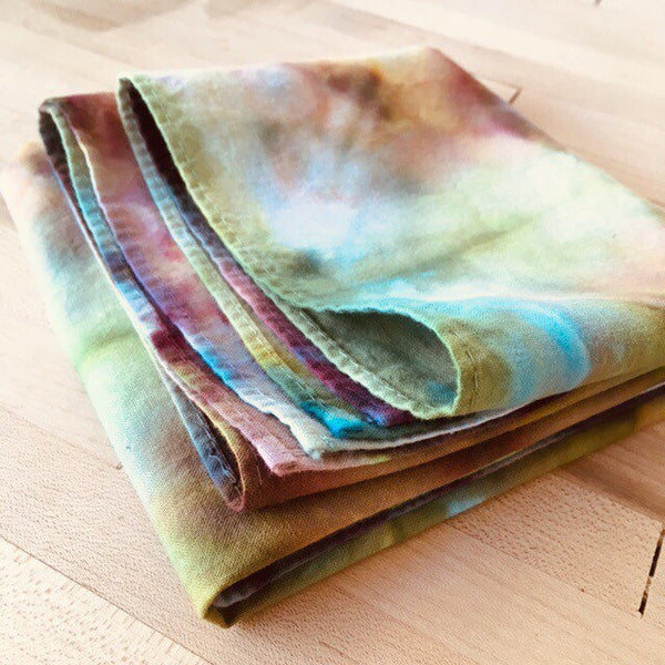 Ice Dyed Hank, EDC Hankerchief, Ice-Dyed Cotton Bandana, Every Day Carry Hank #11
