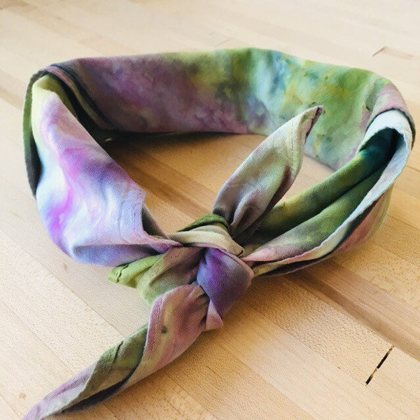 Ice Dyed Hank, EDC Hankerchief, Ice-Dyed Cotton Bandana, Every Day Carry Hank #04