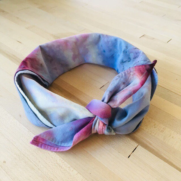 Ice Dyed Hank, EDC Hankerchief, Ice-Dyed Cotton Bandana, Every Day Carry Hank #03