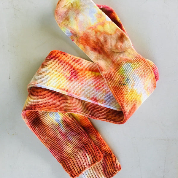 Ice Dyed Socks - Thigh High Socks Size 9-11