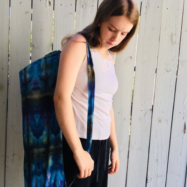 Ice Dyed Yoga Mat Bag #001