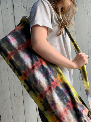 Ice Dyed Yoga Mat Bag #003