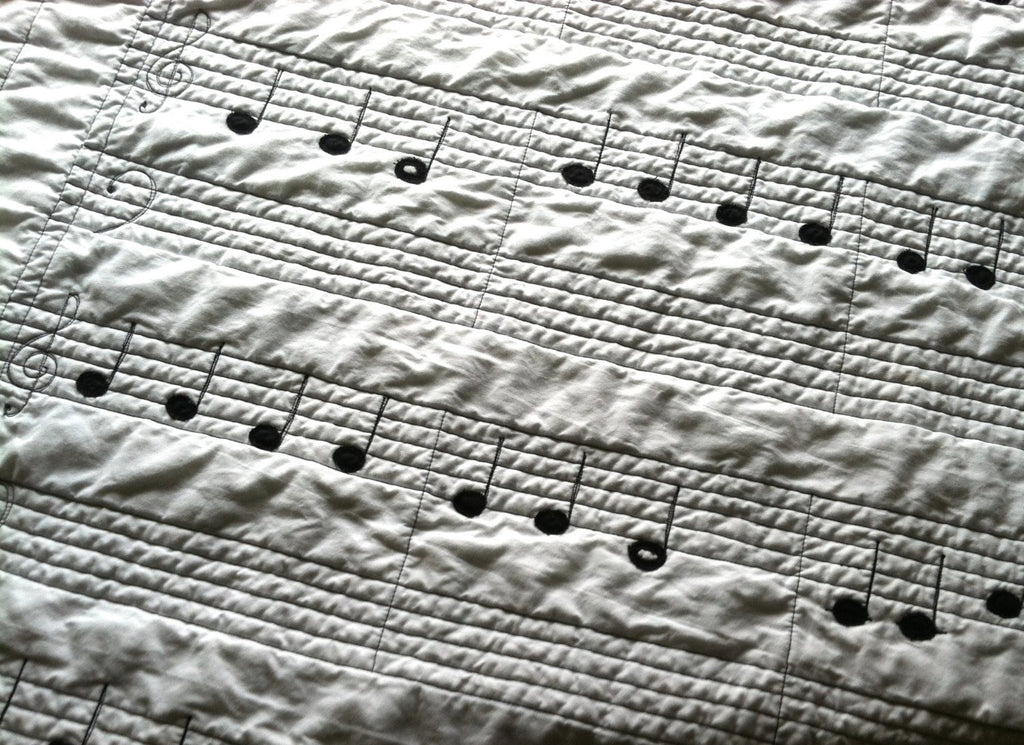 Organic Cotton Sheet Music Quilt - TWINKLE TWINKLE LITTLE STAR