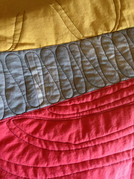 Hand-Dyed Organic Cotton Quilt - YELLOW #2 PENCIL