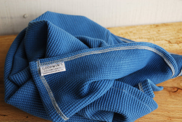 Hand-Dyed Organic Thermal Cotton Blanket - Indigo Blue