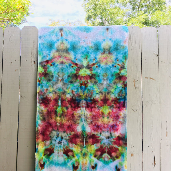 Ice Dyed Cotton Beach Towel, Tie Dyed Swim Towel, Bath Towel #001