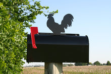 Metal Rooster Mailbox Topper