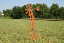 Outdoor Windmill Metal Garden Stake