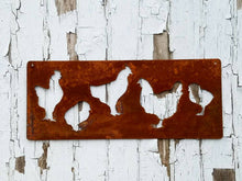 Rustic Metal Chicken Coop Sign