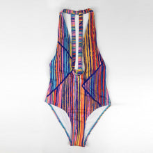 Deep V one-piece swimsuit