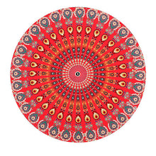 Large Red/Orange Mandala Beach Towel