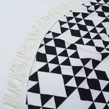 Black and white geo beach towel