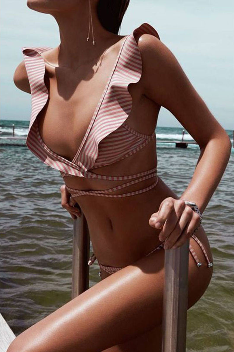Romantic side tie bikini