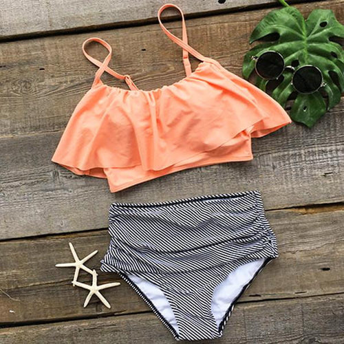 Romantic high waist bikini