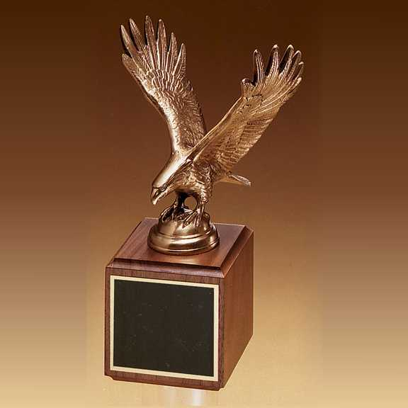 Finely Detailed Antique Bronze Eagle Casting