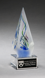Arrow Shaped Art Glass Award