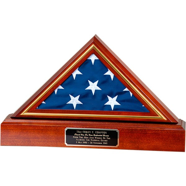 Queen Anne Cherry Finish Appalachian Hardwood Flag Display Case - FB-236 Series