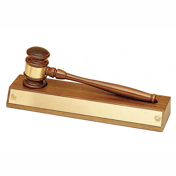 Removable Gavel on American Walnut Base