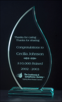 Flame Acrylic Award w/ Acrylic Base - A6534 Series