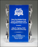 Acrylic Award with Blue Background and Jewel Accents - A7014 Series