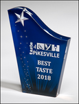 Freestanding Acrylic Award with Etched and Color-Filled Star on Digitally-Printed Constellation Background
