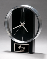 Black and Silver Modern Design Clock
