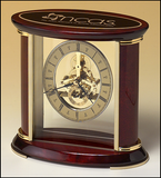 Skeleton Clock w/ Brass and Rosewood Piano Finish