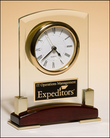 Beveled Glass Desktop Clock