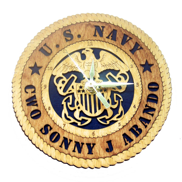 U.S. Navy Desk Clock - Premier - Qualification Badges/Staff Corps Insignia/Navy Emblems/Ranks