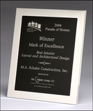 Polished Silver Aluminum Frame Plaque  - FR93 Series