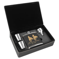 Laserable 6 oz. Flask Gift Box Sets
