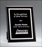 Black Glass Plaques with Silver Borders - G2885 Series