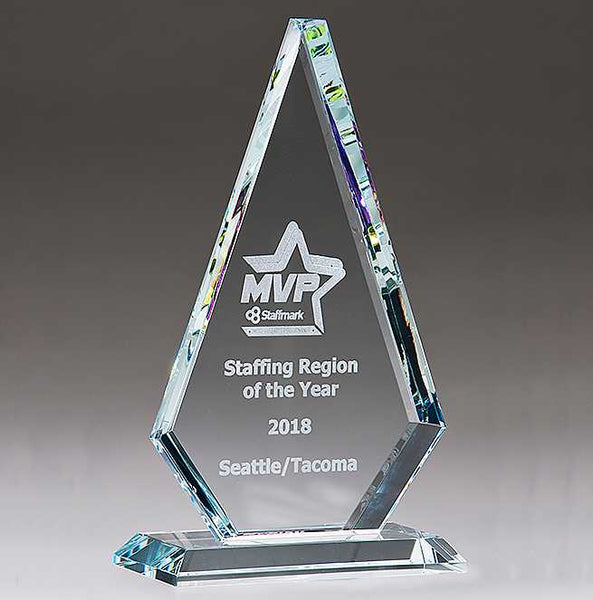 Diamond Series Glass Award with Prism-Effect Top