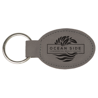 Laser Engraved Oval Keychains