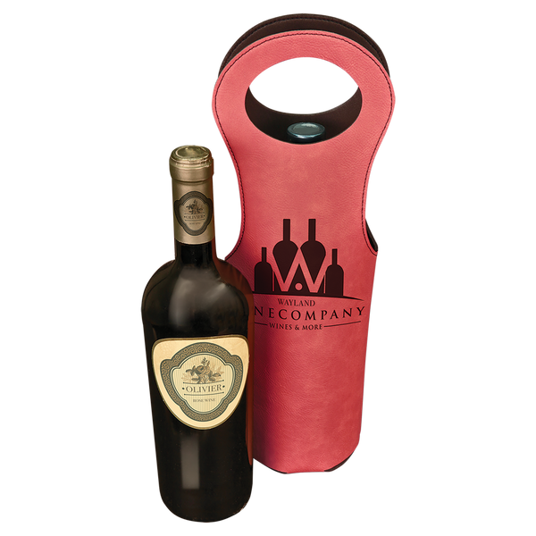 Laserable Leatherette Wine Bag