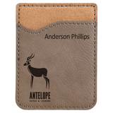 Laserable Leatherette Phone Wallet