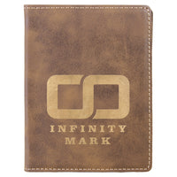 Laserable Leatherette Passport Holder