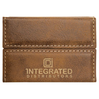 Leather Engraved Hard Card Case