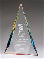 Diamond Series Crystal Award with Prism-Effect Base