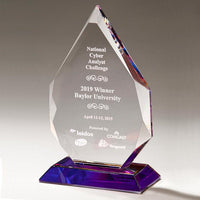 Flame Series Crystal Award with Prism-Effect Base - K9257 Series