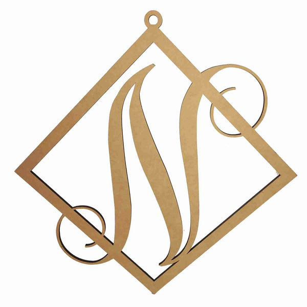 Single Letter Monogram Door Hangers