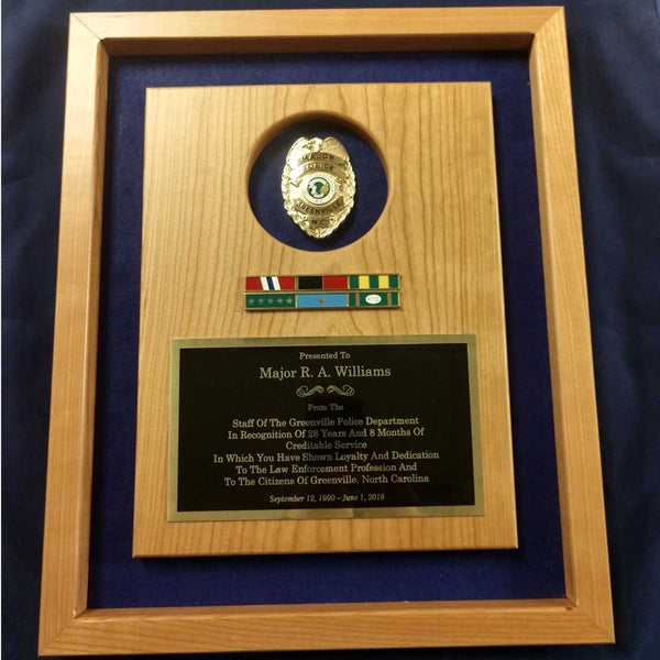 Officer Retirement Plaque
