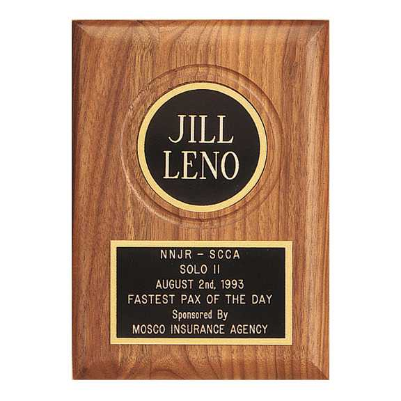 American Walnut Plaque w/ Routed Disk Area