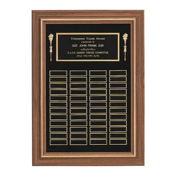 American Walnut Frame Perpetual Plaque - P2552 Series