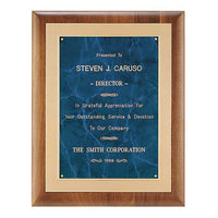 American Walnut Plaque w/ Gold Embossed Frame