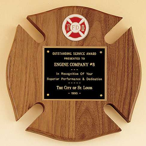 Maltese Cross Fireman Award  - P2790-X