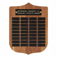 "American Walnut Shield 12"" x 16"" Perpetual Plaque - P41 Series"